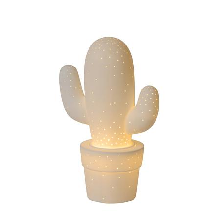 Настольная лампа Lucide Cactus 13513/01/31, 1xE14x40W, белый, керамика