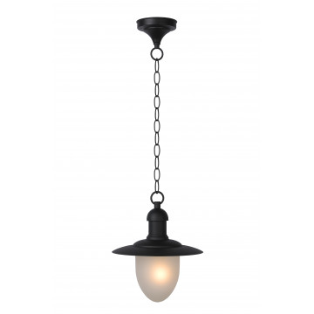 Подвесной светильник Lucide Aruba 11872/01/30, IP44, 1xE27x60W, черный, металл, металл со стеклом