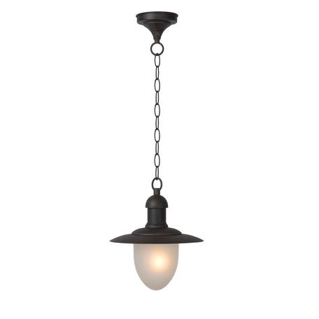 Подвесной светильник Lucide Aruba 11872/01/97, IP44, 1xE27x60W, коричневый, металл, металл со стеклом