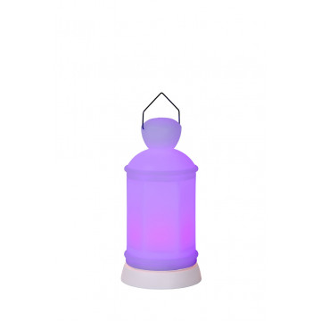 Садовый светодиодный светильник Lucide Flower-LED 13809/20/61, IP54, LED 1W, белый, пластик