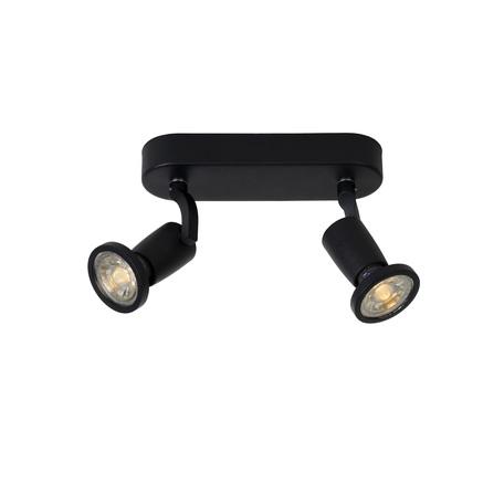 Потолочный светильник с регулировкой направления света Lucide Jaster-LED 11903/10/30, 2xGU10x5W, черный, металл