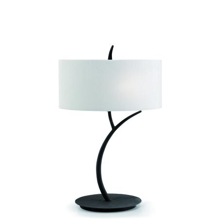 Настольная лампа Mantra Eve 1157, серый, бежевый, металл, стекло, текстиль