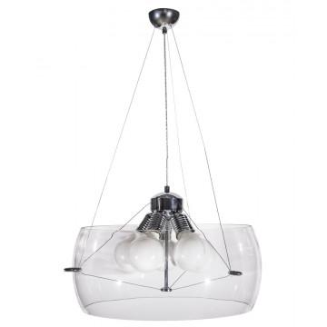 Подвесная люстра Crystal Lux STYLE SP5 TRANSPARENT 3091/205, 5xE27x60W, хром, прозрачный, металл, стекло