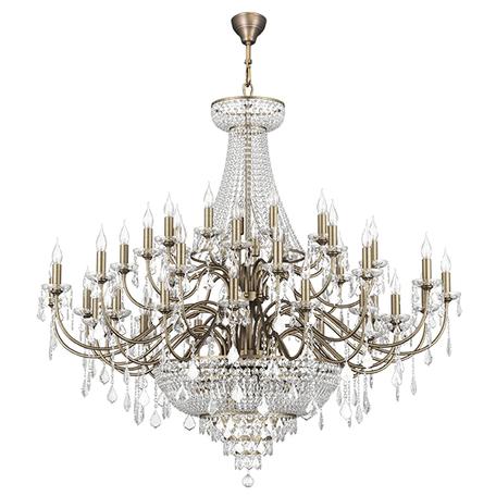 Подвесная люстра Lightstar Osgona Classic 700511, 51xE14x60W, бронза, прозрачный, хрусталь