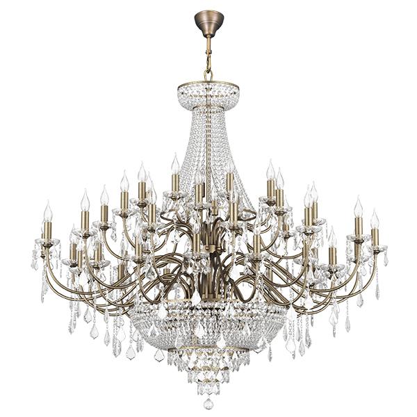 Подвесная люстра Lightstar Osgona Classic 700511, 51xE14x60W, бронза, прозрачный, хрусталь - фото 1