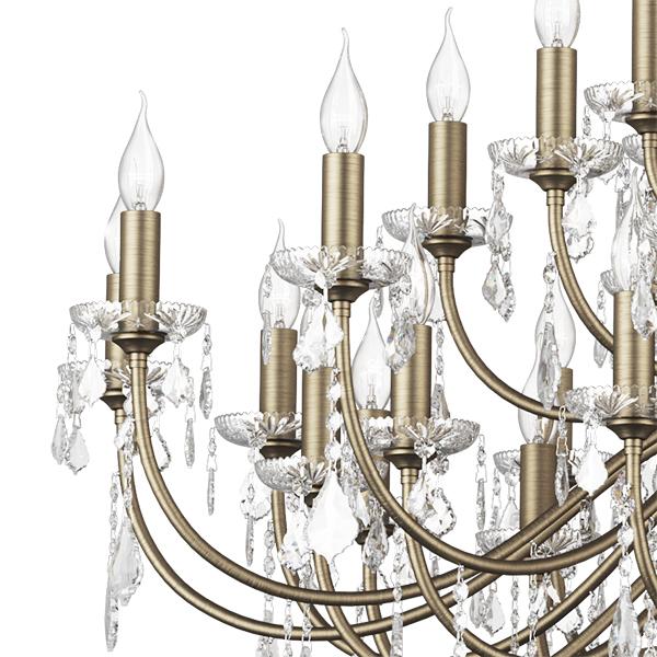 Подвесная люстра Lightstar Osgona Classic 700511, 51xE14x60W, бронза, прозрачный, хрусталь - фото 4