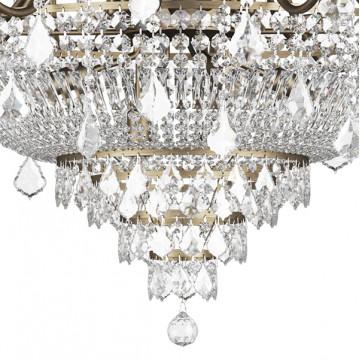 Подвесная люстра Lightstar Osgona Classic 700511, 51xE14x60W, бронза, прозрачный, хрусталь - миниатюра 5