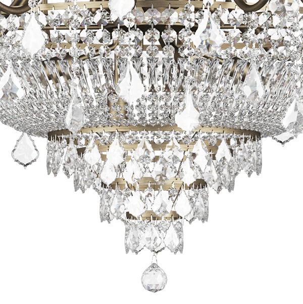 Подвесная люстра Lightstar Osgona Classic 700511, 51xE14x60W, бронза, прозрачный, хрусталь - фото 5