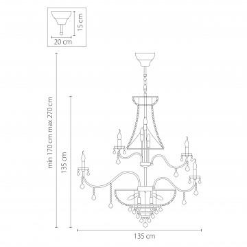 Схема с размерами Lightstar Osgona 700511