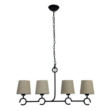 Подвесной светильник Mantra Argi 5212, коричневый, бежевый, металл, текстиль