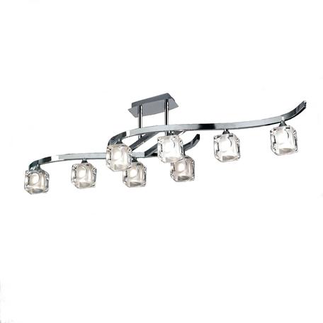 Потолочная люстра Mantra Cuadrax 0951, хром, прозрачный, металл, стекло
