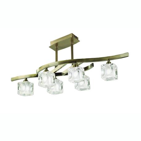 Потолочная люстра Mantra Cuadrax 0990, бронза, металл, стекло