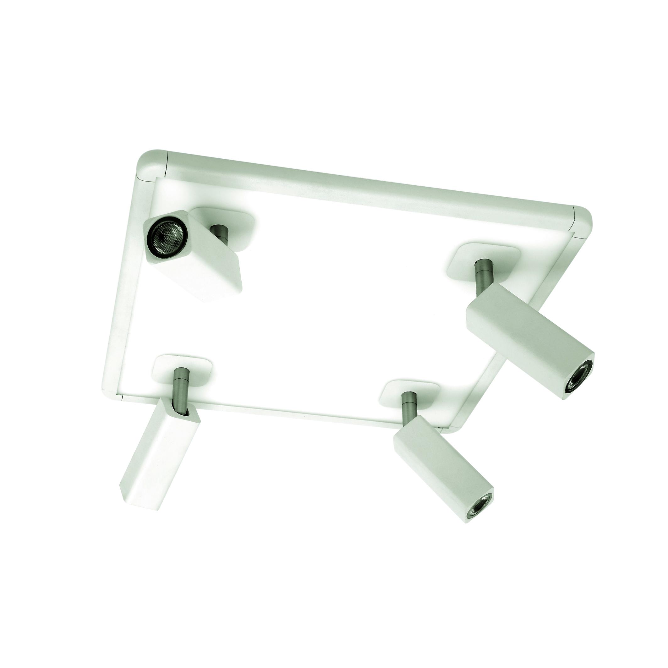 Потолочная люстра с регулировкой направления света Mantra Ibiza 5251, белый, металл, пластик - фото 1