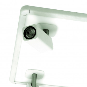 Потолочная люстра с регулировкой направления света Mantra Ibiza 5251, белый, металл, пластик - миниатюра 2