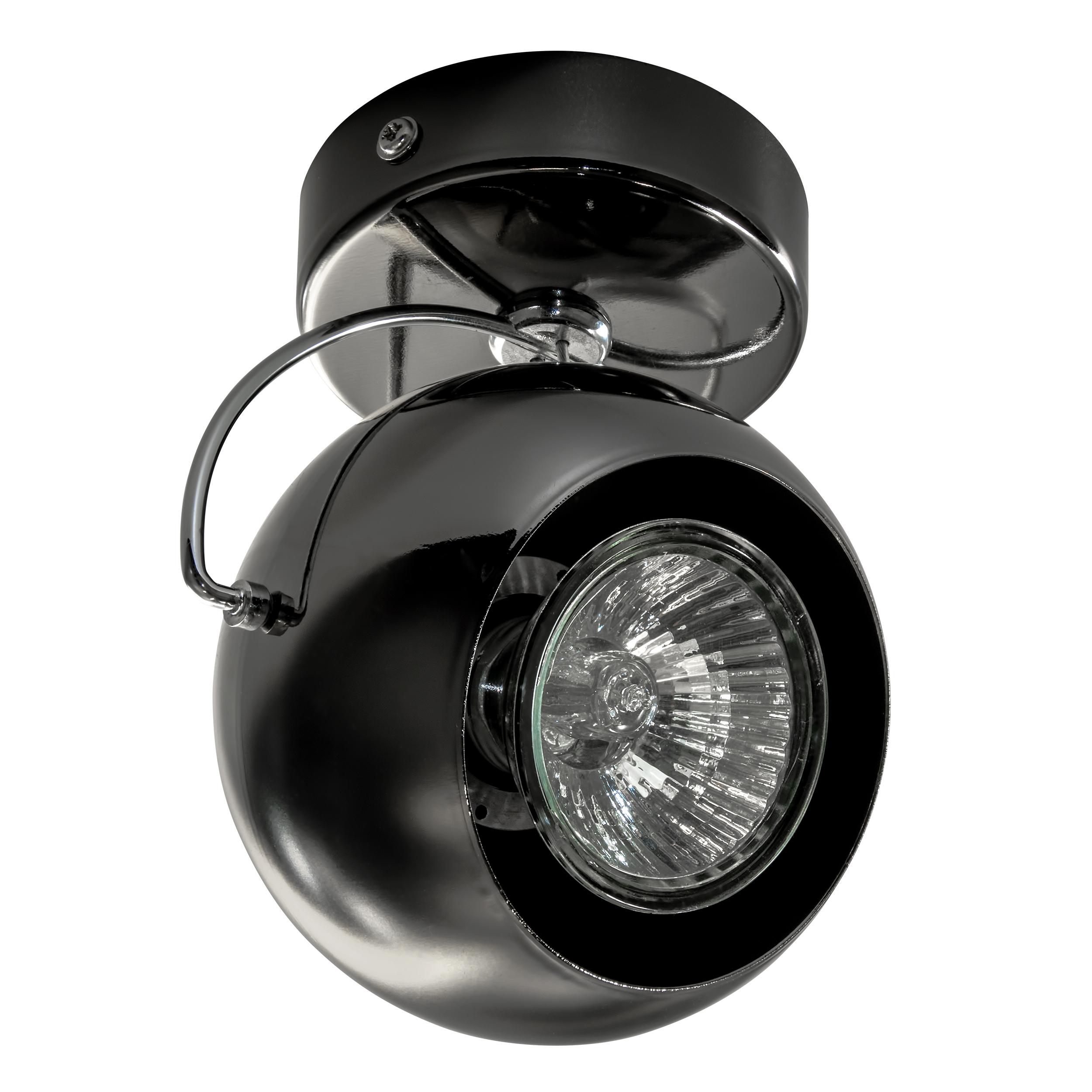 Потолочный светильник с регулировкой направления света Lightstar Fabi 110588, 1xGU10x50W, черный, металл - фото 1