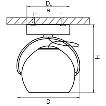Схема с размерами Lightstar 110588