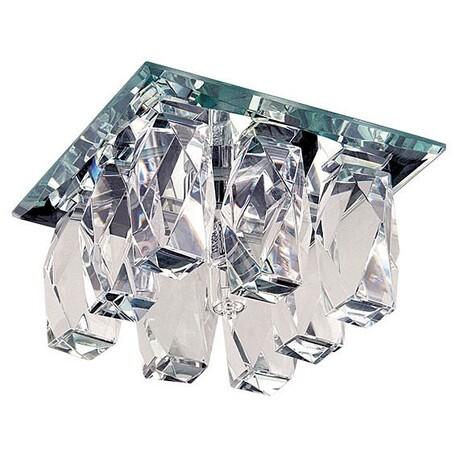 Встраиваемый светильник Lightstar Pilone 004560R, 1xG5.3x50W, хром, прозрачный, металл, стекло