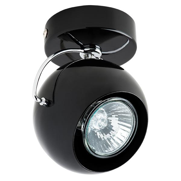 Потолочный светильник с регулировкой направления света Lightstar Fabi 110577, 1xGU10x50W, черный, металл - фото 1