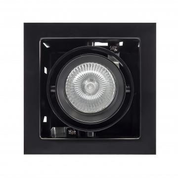 Встраиваемый светильник Lightstar Cardano 214018, 1xGU5.3x50W, черный, металл