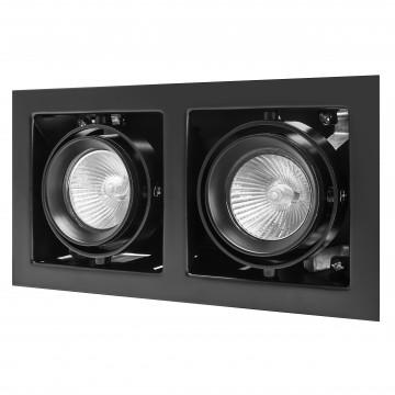 Встраиваемый светильник Lightstar Cardano 214028, 2xGU5.3x50W, черный, металл