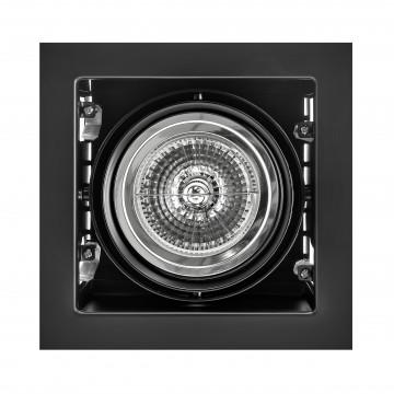 Встраиваемый светильник Lightstar Cardano 214118, 1xG53AR111x50W, черный, металл
