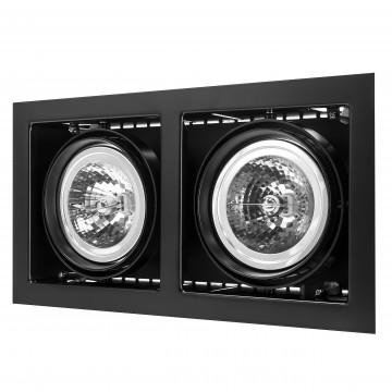 Встраиваемый светильник Lightstar Cardano 214128, 2xG53AR111x50W, черный, металл