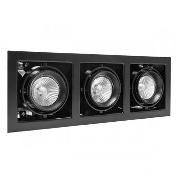 Встраиваемый светильник Lightstar Cardano 214038, 3xGU5.3x50W, черный, металл