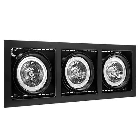 Встраиваемый светильник Lightstar Cardano 214138, 3xG53AR111x50W, черный, металл
