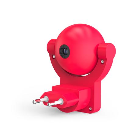 Штекерный светодиодный светильник-ночник Gauss DIY0032, LED 0,5W, красный, пластик
