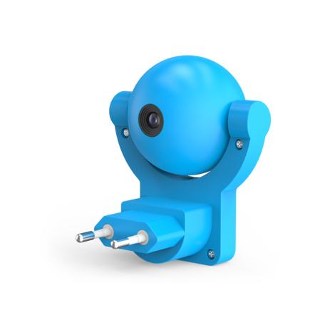 Штекерный светодиодный светильник-ночник Gauss DIY0033, LED 0,5W, синий, пластик