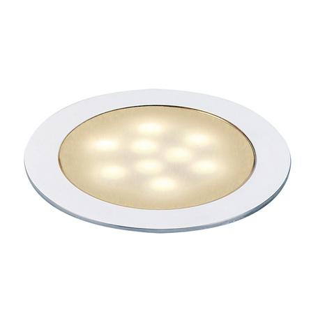 Встраиваемый мебельный светодиодный светильник SLV LED SLIM LIGHT 550672, IP67, LED 3000K, сталь, металл