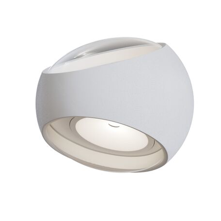Настенный светильник Maytoni O032WL-L6W3K, IP54, белый, металл