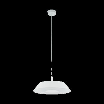 Подвесной светодиодный светильник Eglo Carmazana 96868, LED 17W, 3000K (теплый), белый, металл, стекло