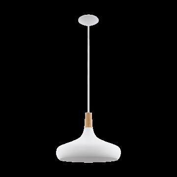 Подвесной светильник Eglo Sabinar 96983, 1xE27x60W, белый, коричневый, дерево, металл