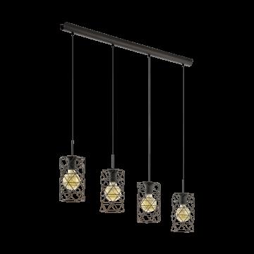 Подвесной светильник Eglo Estevau 97066, 4xE27x60W, коричневый, металл