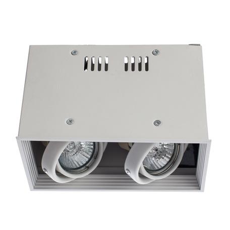 Потолочный светильник Arte Lamp Cardani Piccolo A5942PL-2WH, 2xGU10x50W, белый, металл