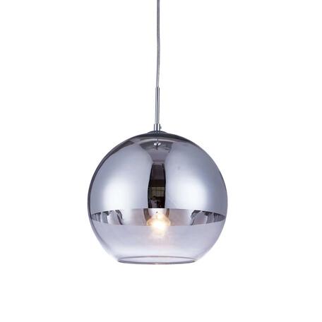 Подвесной светильник Lumina Deco Veroni LDP 1029-200 CHR, 1xE27x40W, хром с прозрачным, розовое золото с прозрачным, стекло