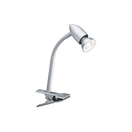 Светильник на прищепке Paulmann Assistent Gesa 99910, 1xGU10x35W, матовый хром, металл с пластиком