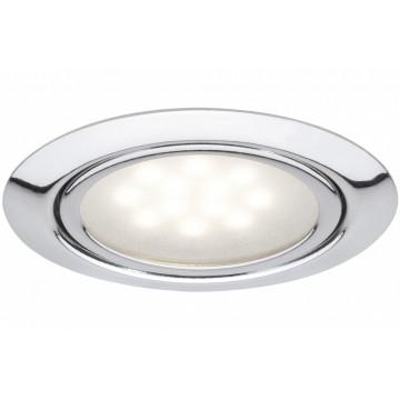 Встраиваемый мебельный светодиодный светильник Paulmann Micro Line LED 99814, LED 1W, хром, металл