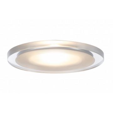 Встраиваемый мебельный светодиодный светильник Paulmann Micro Line Whirl Mini LED 99865, LED 2,4W, белый, прозрачный, металл с пластиком