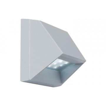 Встраиваемый настенный светодиодный светильник Paulmann Wall LED 99817, IP44, LED 1,5W, серый, металл