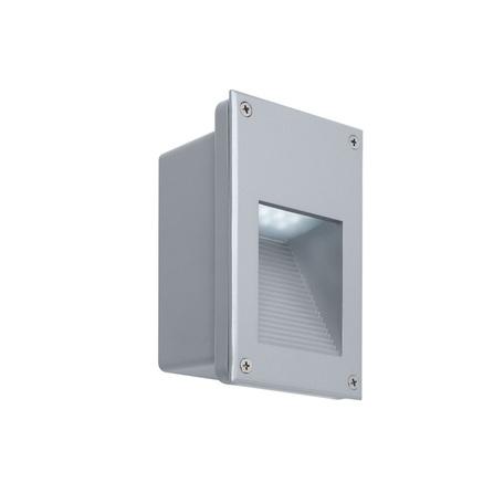 Встраиваемый настенный светодиодный светильник Paulmann Wall LED 99818, IP44, LED 2,4W, серый, металл