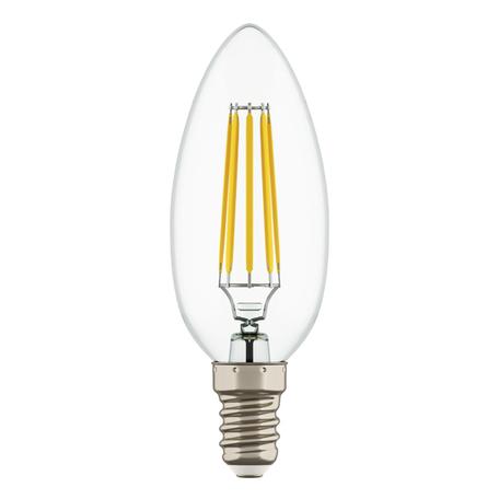 Филаментная светодиодная лампа Lightstar LED 933502 свеча E14 6W, 3000K (теплый) 220V, гарантия 1 год