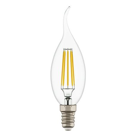 Филаментная светодиодная лампа Lightstar LED 933602 свеча на ветру E14 6W, 3000K (теплый) 220V, гарантия 1 год