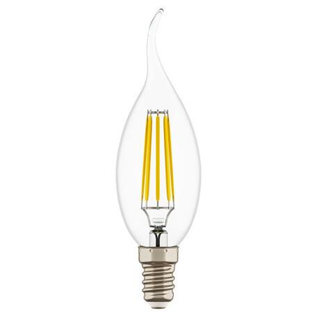 Филаментная светодиодная лампа Lightstar LED 933604 свеча на ветру E14 6W, 4000K (дневной) 220V, гарантия 1 год