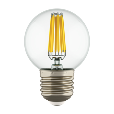 Филаментная светодиодная лампа Lightstar LED 933824 шар малый E27 6W, 4000K 220V, гарантия 1 год
