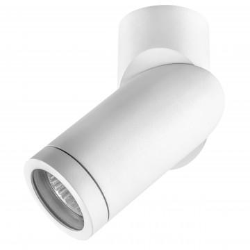 Уличный настенно-потолочный светильник с поворотным плафоном Lightstar 051016 Illumo F, белый