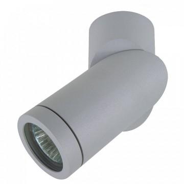 Уличный настенно-потолочный светильник с поворотным плафоном Lightstar 051019 Illumo F, серый