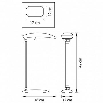 Схема с размерами Lightstar 808936