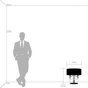 Настольная лампа Lightstar Paralume 725926, 2xE14x40W, прозрачный, хром, белый, металл, хрусталь, текстиль - миниатюра 2